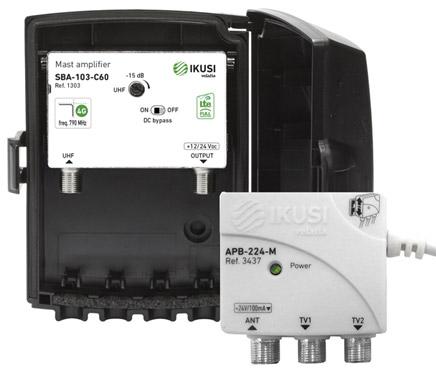 IKUSI JSBA103-C60 Mast Amplifier & Power Supply Kit