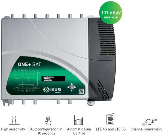 Ikusi ONE+ and ONE+ SAT Programmable Digital Amplifiers