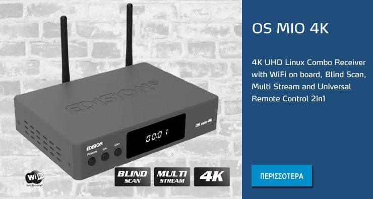 Edision OS MIO 4K Linux Combo Receiver