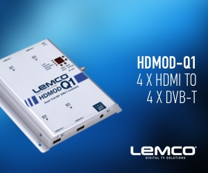 Lemco HDMOD-Q1 Quad Input HD Digital DVB-T MPEG4 Modulator