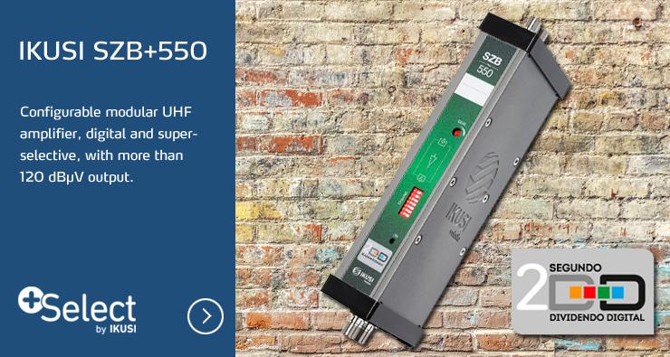 IKUSI® SZB+550 Configurable Modular UHF Amplifier