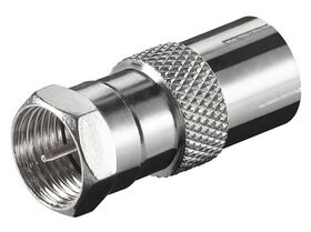 Fenger FI-01 F-Type Male to IEC Female Adapter, 2.4GHz, Pack 10 pcs