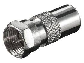 Fenger FI-02 F-Type Male to IEC Male Adapter, 2.4GHz, Pack 10 pcs