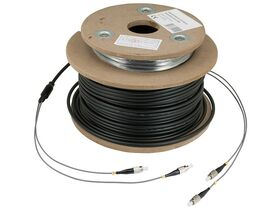 INVACOM® Twin Optical Patch Cable FC/PC, 25 Meters